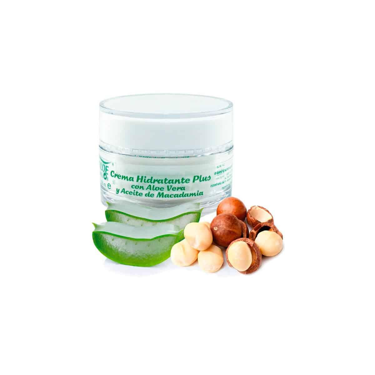Crema hidratante con Aloe Vera y aceite de nuez de Macadamia